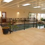 Interior pool paving